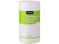 Officeworks J.Burrows Whiteboard Cleaning Wipes 100 Pack