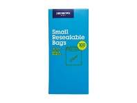 Officeworks J.Burrows Resealable Plastic Bags Small 100 Pack