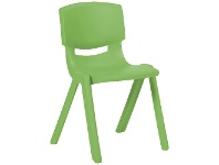 Officeworks Studymate Young Stacking Chair 455mm Green