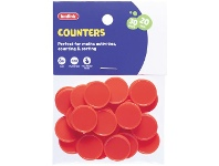 Officeworks Kadink Small Counters Red 30 Pack