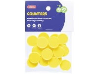 Officeworks Kadink Small Counters Yellow 30 Pack