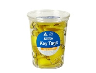 Officeworks Kevron ID5 Key Tags Yellow 50 Pack