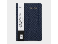 Officeworks Keji A5 Week to View FY21/22 Fabric Diary Navy