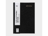 Officeworks Keji A5 Week to View FY21/22 Hard Cover Diary Black