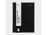 Officeworks Keji A4 Day to Page FY21/22 Hard Cover Diary Black