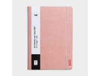 Officeworks Keji A5 Day to Page 2022 PU Diary Pink