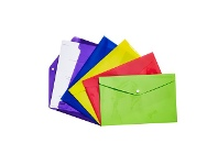 Officeworks Keji Document Wallet A4 Button Closure Assorted Colour 5 Pack