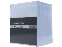 Officeworks InSystem Jewel CD Case Clear 10 Pack