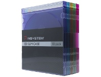 Officeworks InSystem Slim CD Cases Assorted Colours 10 Pack