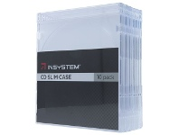 Officeworks InSystem Slim CD Cases Clear 10 Pack