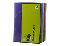 Officeworks InSystem DVD Slim Assorted Colours 10 Pack