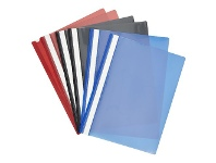Officeworks Keji Flat File A4 Assorted Colours 6 Pack