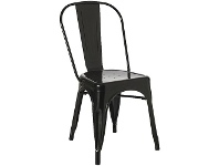 J.Burrows Steel Stacking Chair Gloss Black