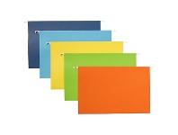 Officeworks Keji Foolscap Suspension File Assorted Colours 20 Pack
