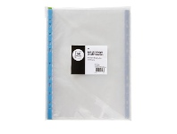 Officeworks Keji Sheet Protector A4 Light Weight Coloured Spine 50 Pack