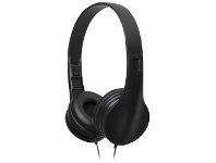 Officeworks Keji On-ear Wired Headphones with Microphone Black