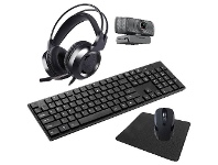 Officeworks Laser 5-in-1 Wireless Keyboard and Mouse Combo Set Black