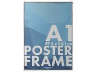 Officeworks Lifestyle Brands A1 Poster Frame Silver