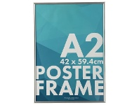 Officeworks Lifestyle Brands A2 Poster Frame Silver