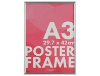 Officeworks Lifestyle Brands A3 Poster Frame Silver