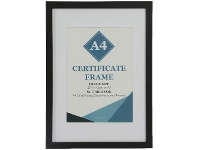 Officeworks Lifestyle Brands Certificate Frame A3 with A4 Opening Black