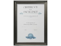 Officeworks Lifestyle Brands Certificate Frame A3 Black with Silver Edge