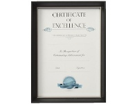 Lifestyle Brands Certificate Frame A4 Black/Silver