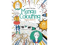 Officeworks Lake Press Colour Your Own Wall Art Colouring Book Manga