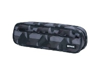 Officeworks Lihit Lab Liht Lab Twin Zip Multi Compartment Pencil Case Green Camo