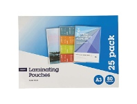 Officeworks J.Burrows A3 Laminating Pouches 80 Micron 25 Pack Gloss