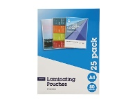 Officeworks J.Burrows A4 Laminating Pouches 80 Micron 25 Pack Gloss