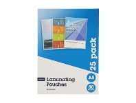 Officeworks J.Burrows A5 Laminating Pouches 80 Micron 25 Pack Gloss