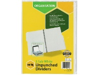 Officeworks Marbig 5 Tab Unpunched Manila Dividers White