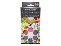 Officeworks Micador for Artists Brilliant Watercolour Disc 36 Pack