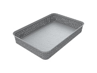 Officeworks Ezy Storage Mode A4 Stacking Tray Grey