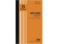 Olympic No.704 Duplicate Record Book