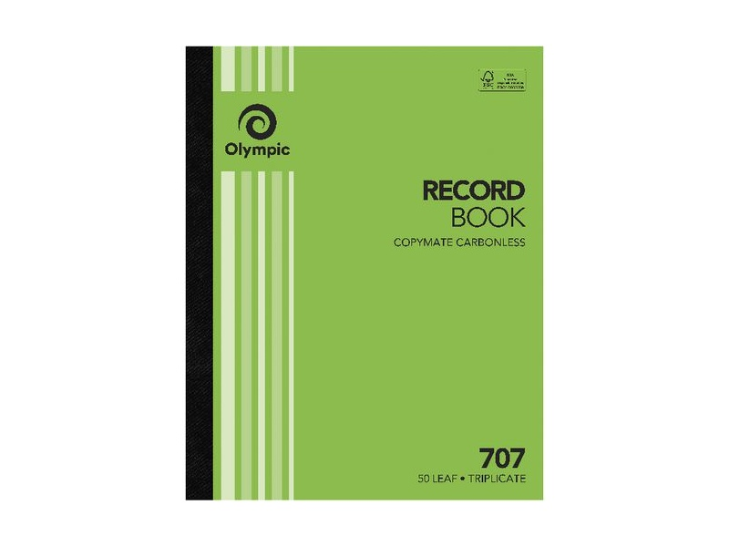 Olympic No.707 Carbonless Triplicate Record Book