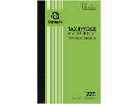 Officeworks Olympic No.725 Carbonless Triplicate Invoice/Statement Book