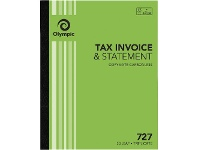 Officeworks Olympic No.727 Carbonless Triplicate Invoice/Statement Book