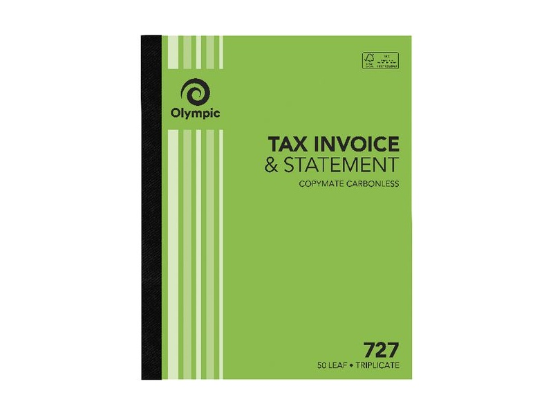 Olympic No.727 Carbonless Triplicate Invoice/Statement Book