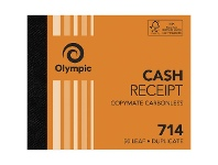 Officeworks Olympic No.714 Carbonless Duplicate Cash Receipt Book