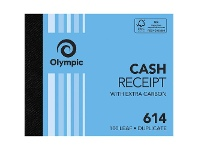 Officeworks Olympic No.614 Carbon Duplicate Cash Receipt Book