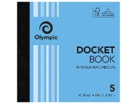 Officeworks Olympic No.5 Carbon Duplicate Docket Book