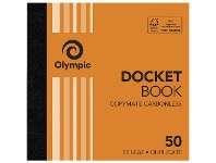 Officeworks Olympic No.50 Carbonless Duplicate Docket Book
