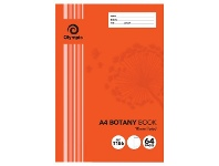 Officeworks Olympic A4 55gsm 18mm Ruled Botany Book 64 Page