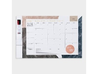 Officeworks Otto A2 Dry Erase Monthly Wellness Planner Magnetic