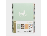 Officeworks Otto A4 Spiral Notebooks 4 Pack Multi