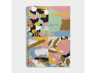 Officeworks Otto A4 Spiral Notebook 200 Pages Multi Abstract