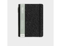 Officeworks Otto A5 Day to Page 2022 PU Diary with Pen Black