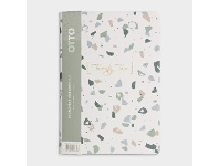 Officeworks Otto A5 Day to Page 2022 Hardcover Diary Terrazzo
